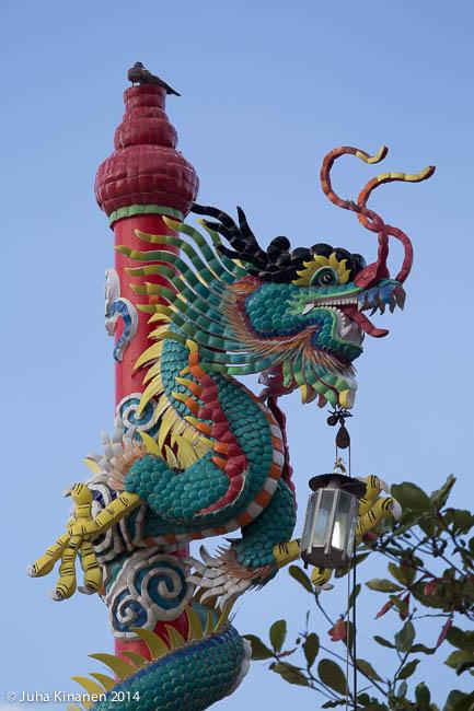 Kiinalainen temppeli rannassa